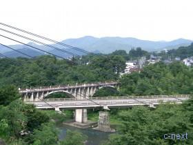 [写真]札所20番近くから見た秩父橋