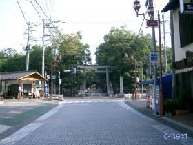 [写真]参道(番場通り)から見た秩父神社