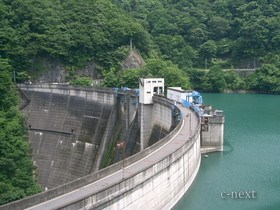 [写真]ダムのアーチ