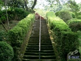 [写真]観音堂への階段