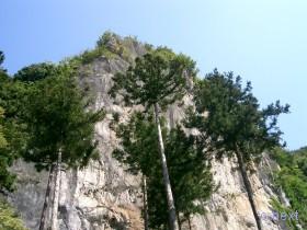 [写真]堂裏の岩壁