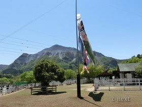 [写真]ふれあい牧場と武甲山