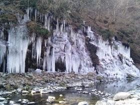 [写真]三十槌の氷柱