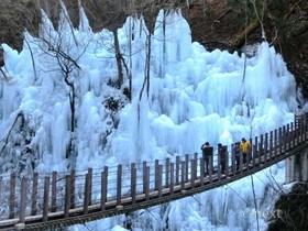 [写真]尾ノ内渓谷の氷柱