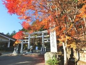 [写真]三峯神社の紅葉