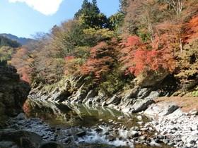 [写真]大輪・登竜渓の紅葉