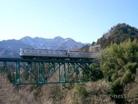 [写真]秩父線安谷川橋梁