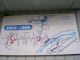 [写真]町営バス路線図