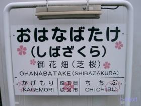 [写真]秩父線御花畑駅
