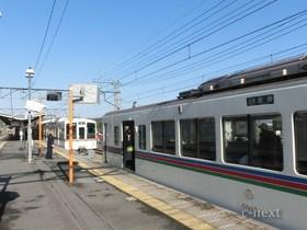 [写真]直通電車の切り離し
