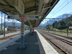 [写真]横瀬駅ホーム