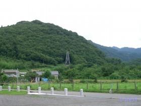 [写真]椋神社から見た龍勢櫓